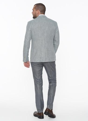 Beymen Business 4B0420200012 Koyu Yeşil Slim Fit Ceket Desenli Yeşil